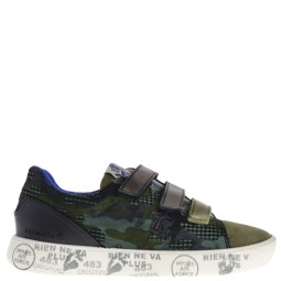 premiata will be kinder sneakers groen-zwart